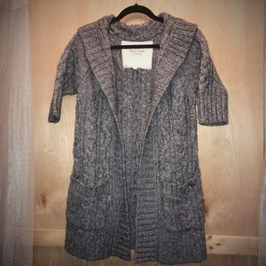 Abercrombie & Fitch cable knit open cardigan, used for sale
